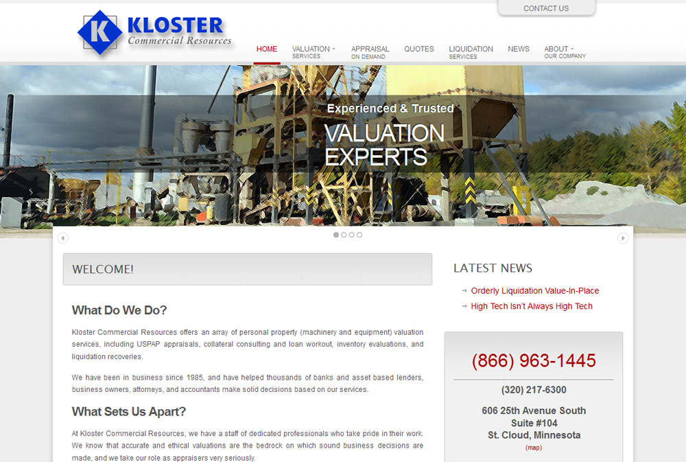 Kloster Commercial Services screenshot